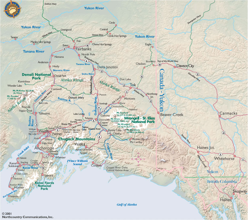 Get An Alaska Map Maps By BEARFOOT Guides Maps Of Anchorage - Alaska maps