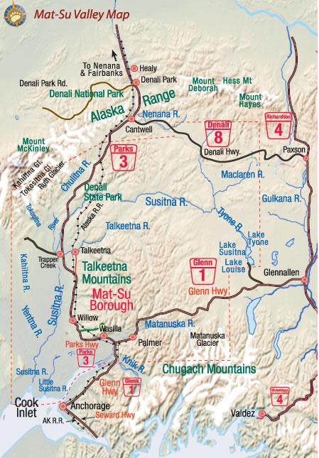 Image Gallery Mat Su Ak Map